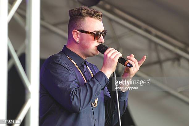 Singer Sam Smith performs on stage on Day 4 of Latitude Festival 2013 at Henham Park Estate on July 21, 2013 in Southwold, England.