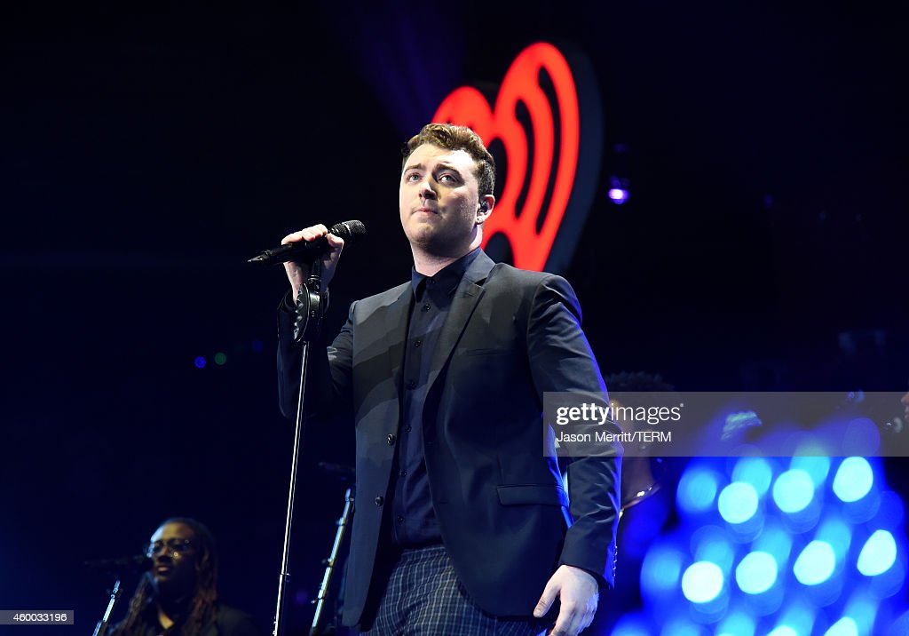 Singer Sam Smith performs onstage during KIIS FM's Jingle Ball 2014 powered by LINE at Staples Center on December 5, 2014 in Los Angeles, California.