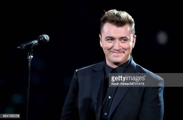 Singer Sam Smith performs onstage during the 2014 MTV Video Music Awards at The Forum on August 24 2014 in Inglewood California