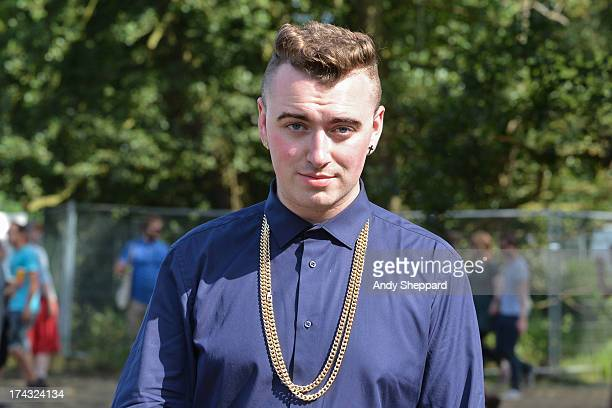 Singer Sam Smith posed backstage on Day 4 of Latitude Festival 2013 at Henham Park Estate on July 21, 2013 in Southwold, England.
