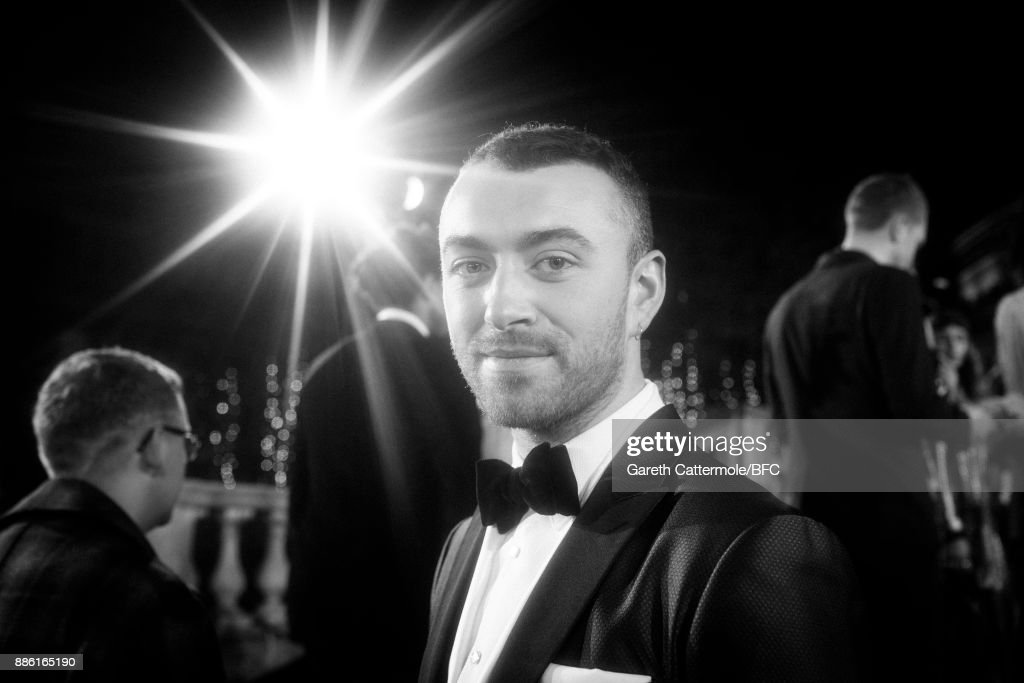 Singer Sam Smith walks the red carpet during The Fashion Awards 2017 in partnership with Swarovski at Royal Albert Hall on December 4, 2017 in London, England.