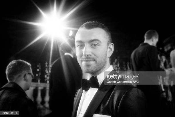 Singer Sam Smith walks the red carpet during The Fashion Awards 2017 in partnership with Swarovski at Royal Albert Hall on December 4 2017 in London...