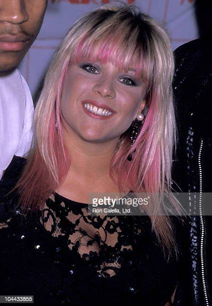 Singer Samantha Fox attends New York Music Awards on April 8 1989 at the Beacon Theater in New York City