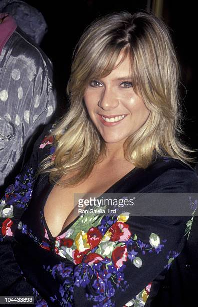Singer Samantha Fox sighted on June 11 1991 at the Bel Age Hotel in West Hollywood California