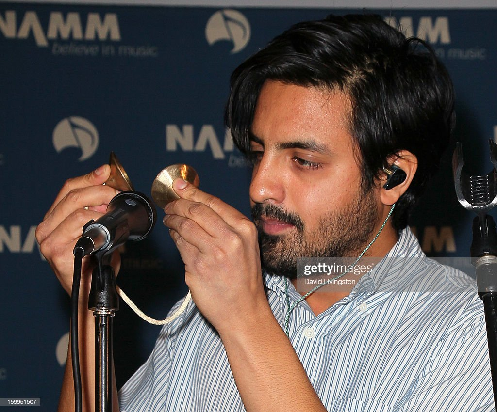 Singer Sameer Gadhia of Young the Giant performs on stage at the 2013 NAMM Show - Media Preview Day at the Anaheim Convention Center on January 23, 2013 in Anaheim, California.