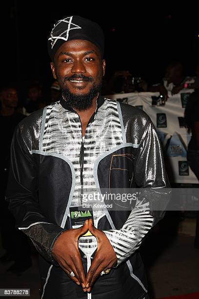 Singer Samini arrives for the MTV Africa Music Awards 2008 at the Abuja Velodrome on November 22, 2008 in Abuja, Nigeria.