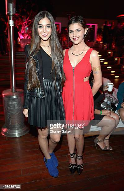 Singer Sammi Sanchez and actress Amber Montana attend Latina Magazine's '30 Under 30' Party at Mondrian Los Angeles on November 13 2014 in West...