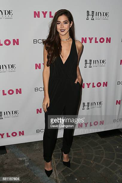 Singer Sammi Sanchez arrives at NYLON and BCBGeneration's Annual Young Hollywood May Issue Event at HYDE Sunset Kitchen Cocktails on May 12 2016 in...