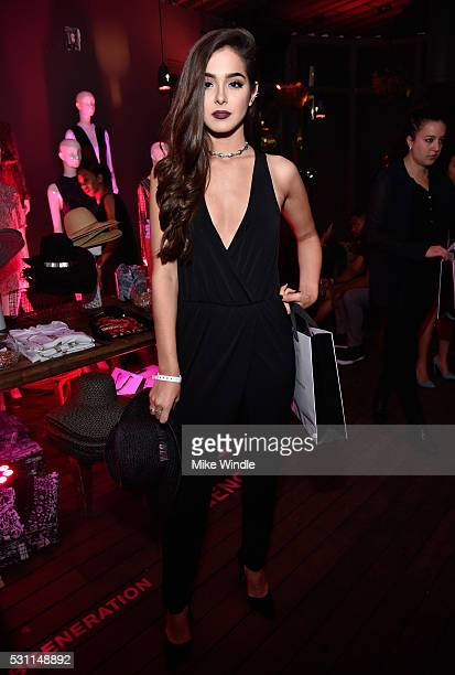 Singer Sammi Sanchez attends the NYLON Young Hollywood Party Presented by BCBGeneration at HYDE Sunset Kitchen Cocktails on May 12 2016 in West...