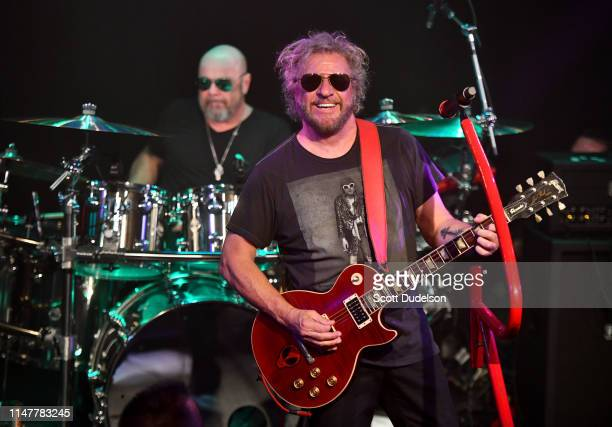 Singer Sammy Hagar performs onstage with of The Circle during an exclusive SiriusXM concert in support of the new album 'Space Between' at The...