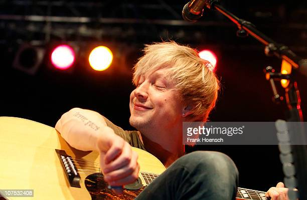 Singer Samu Haber of Sunrise Avenue performs live during a concert at the Huxleys on December 11 2010 in Berlin Germany