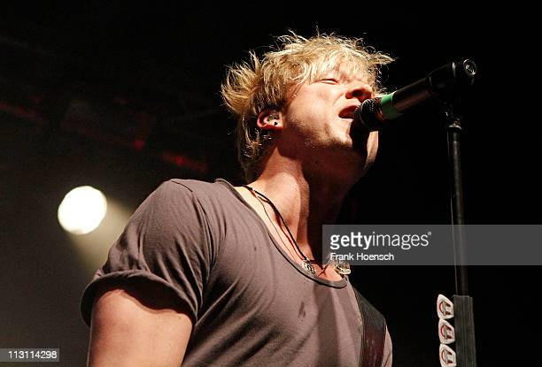 Singer Samu Haber of Sunrise Avenue performs live during a concert at the CClub on April 23 2011 in Berlin Germany