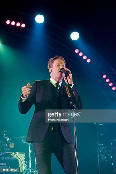 Singer Samu Haber of Sunrise Avenue performs live during a concert at the Columbiahalle on March 3 2013 in Berlin Germany