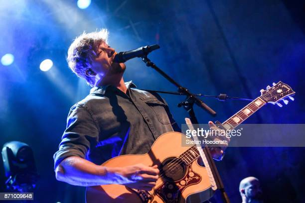 Singer Samu Hauber of Sunrise Avenue performs live on stage during a concert at Kesselhaus on November 6 2017 in Berlin Germany