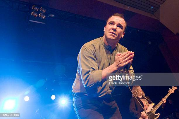 Singer Samuel Herring of the American band Future Islands performs live during a concert at the Astra on October 5 2014 in Berlin Germany