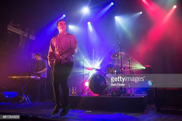 Singer Samuel T Herring of Future Islands performs at Terminal 5 on January 9 2015 in New York City