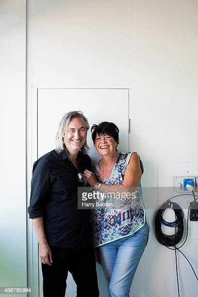 Singer Sandie Shaw is photographed with record producer Neil Davidge for the Independent on August 13 2014 in London England