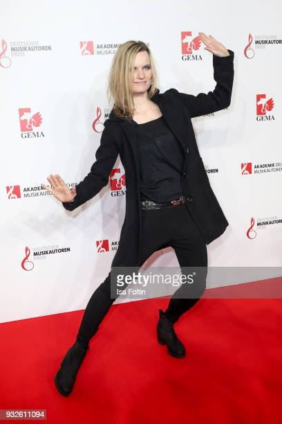Singer Sandra Fink alias Safi during the German musical authors award on March 15 2018 in Berlin Germany