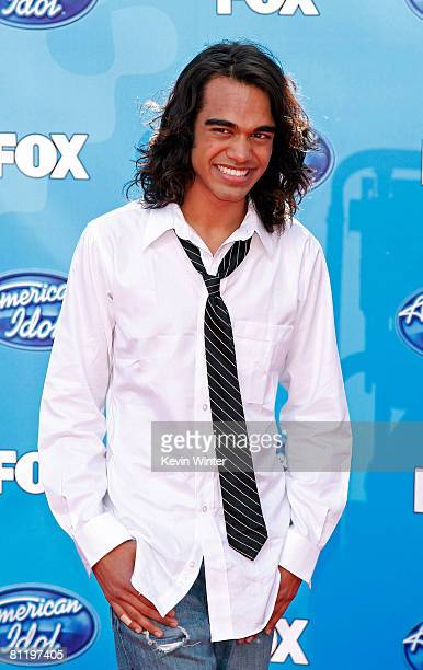 Singer Sanjaya Malakar arrives at the American Idol Season 7 Grand Finale held at the Nokia Theatre on May 21 2008 in Los Angeles California
