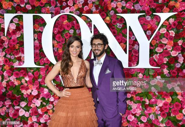 US singer Sara Bareilles and US singer Josh Groban attend the 2018 Tony Awards Led Carpet at Ladio City Music Hall in New York City on June 10 2018