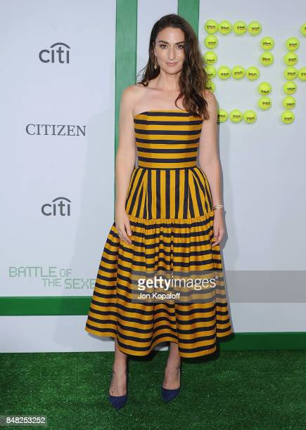 Singer Sara Bareilles arrives at the Premiere Of Fox Searchlight Pictures' 'Battle Of The Sexes' at Regency Village Theatre on September 16 2017 in...