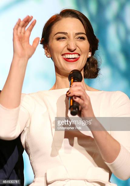 Singer Sara Bareilles performs onstage at 2014 MusiCares Person Of The Year Honoring Carole King at Los Angeles Convention Center on January 24 2014...
