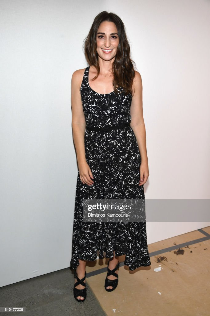 Singer Sara Bareilles poses backstage at Michael Kors Collection Spring 2018 Runway Show at Spring Studios on September 13, 2017 in New York City.