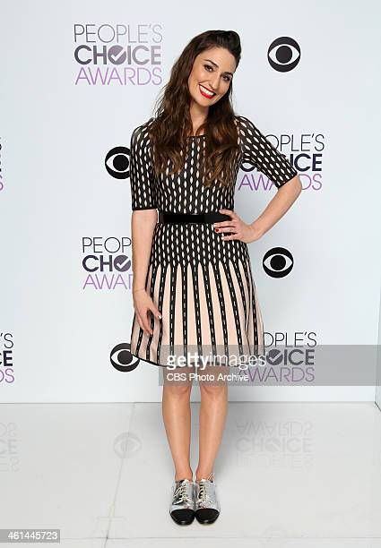 Singer Sara Bareilles poses in the CBS/People's Choice Awards Photo Booth during The 40th Annual People's Choice Awards at Nokia Theatre LA Live on...