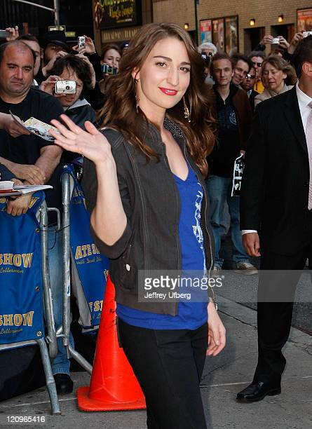 Singer Sara Bareilles visits Late Show with David Letterman at Ed Sullivan Theater on May 19 2008 in New York City