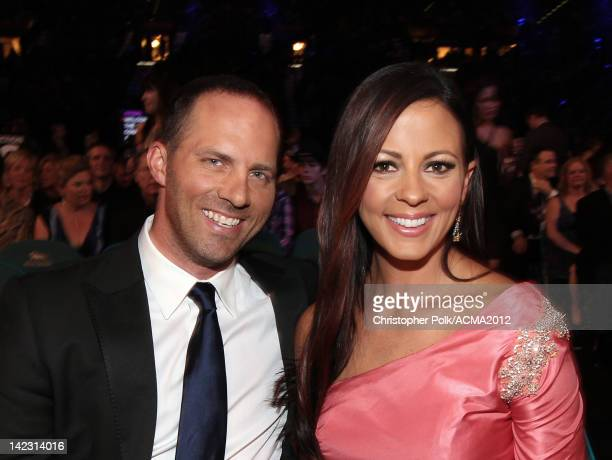 Singer Sara Evans and husband Jay Barker attend the 47th Annual Academy Of Country Music Awards held at the MGM Grand Garden Arena on April 1 2012 in...