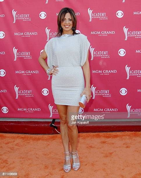Singer Sara Evans attends the 43rd Academy of Country Music Awards at The MGM Grand Garden Arena on May 18, 2008 in Las Vegas, Nevada.