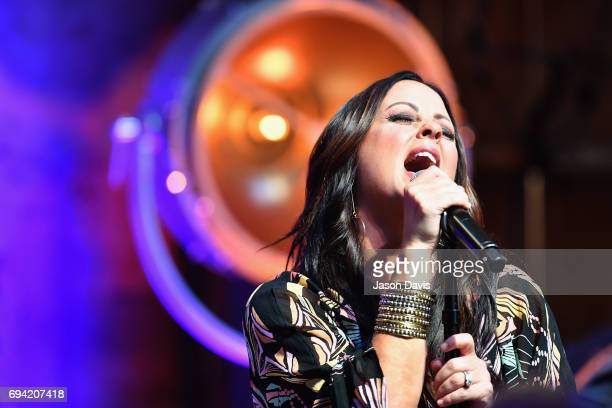 Singer Sara Evans performs onstage at the HGTV Lodge during CMA Music Fest on June 9 2017 in Nashville Tennessee