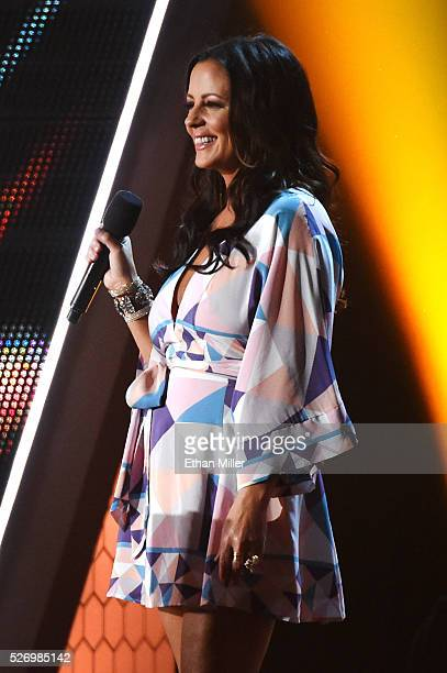 Singer Sara Evans speaks onstage during the 2016 American Country Countdown Awards at The Forum on May 1 2016 in Inglewood California