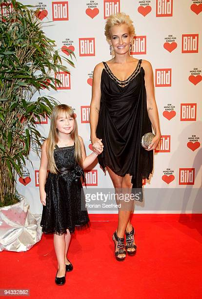 Singer Sarah Connor and Connie Talbot attend the 'Ein Herz fuer Kinder' Gala at Studio 20 at Adlershof on December 12 2009 in Berlin Germany