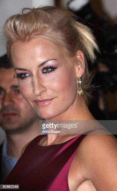 Singer Sarah Connor attends the Dreamball2008 charity gala in the Martin-Gropius Building on September 18, 2008 in Berlin, Germany.