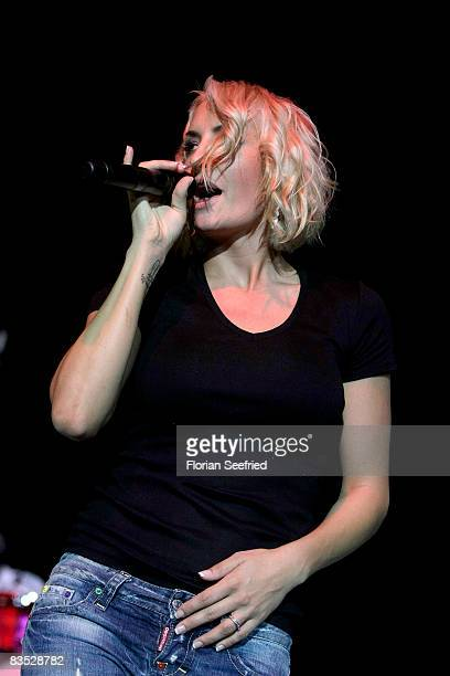 Singer Sarah Connor is preforming during the Unesco Benefit Gala For Children 2008 at Hotel Maritim on November 01 2008 in Cologne Germany