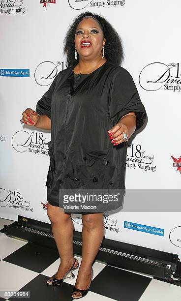 Singer Sarah Dash arrives at the 18th Annual Divas Simply Singing at Wilshire Theater on October 11 2008 in Beverly Hills California