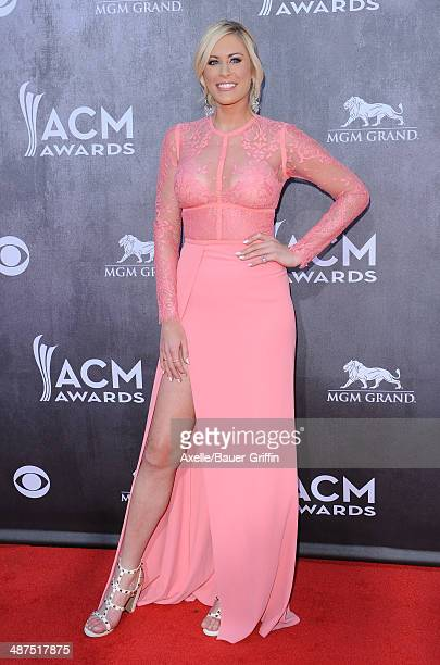 Singer Sarah Davidson arrives at the 49th Annual Academy of Country Music Awards at the MGM Grand Hotel and Casino on April 6 2014 in Las Vegas Nevada