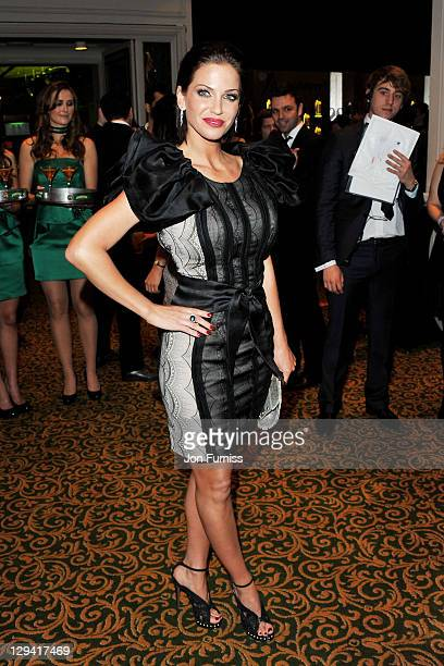 Singer Sarah Harding attends The Jameson Empire Awards 2011 at The Grosvenor House Hotel on March 27 2011 in London England