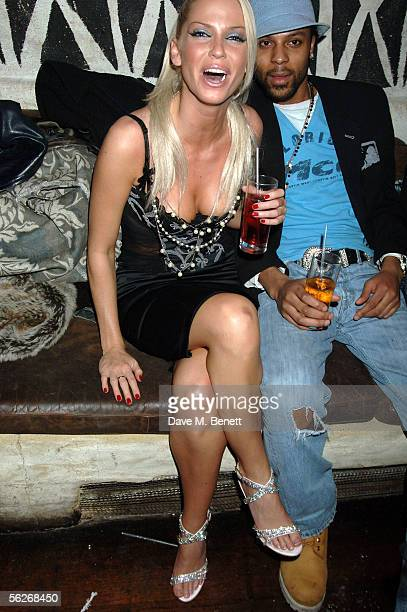 Singer Sarah Harding from Girls Aloud attends the Princess Diamond Party at Umbaba on November 23 2005 in London England The second Princess party...