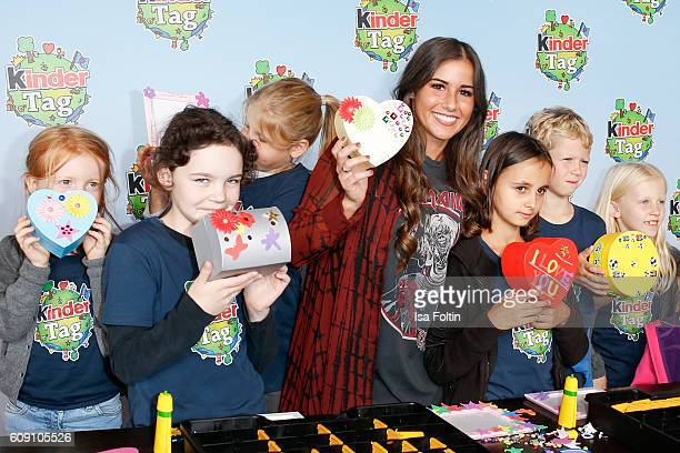 Singer Sarah Lombardi attends the KinderTag to celebrate children's day on September 20 2016 in Noervenich near Dueren Germany