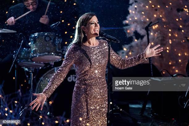 Singer Sarah McLachlan performs at the 84th Rockefeller Center Christmas Tree Lighting ceremony at Rockefeller Center on November 30 2016 in New York...