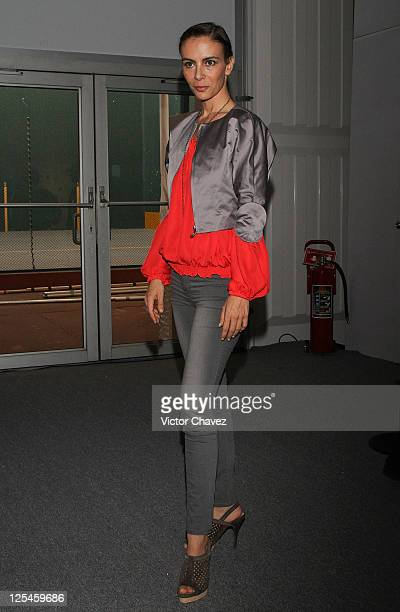 Singer Sasha Sokol attends the Sonia Heilbron presentation during day one of MercedesBenz Dfashion Mexico at Campo Marte on October 25 2010 in Mexico...