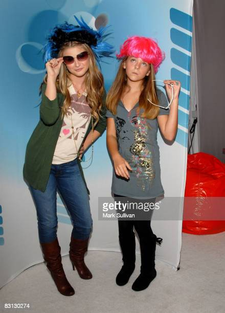 Singer Savannah Outen and actress Madison Davenport attend 'Target Presents Variety's Power of Youth' event held at NOKIA Theatre LA LIVE on October...