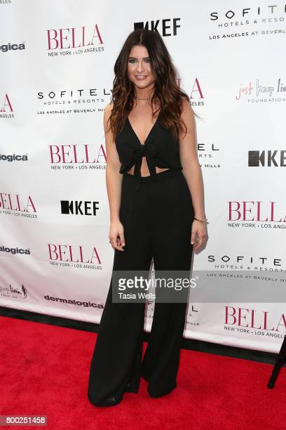 Singer Savannah Outen attends the BELLA Los Angeles Summer Issue Cover Launch Party at Sofitel Los Angeles At Beverly Hills on June 23 2017 in Los...