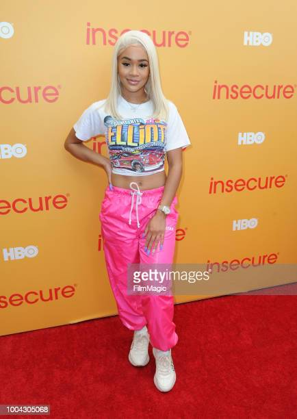 Singer Saweetie attends HBO's Insecure Block Party at Banc of California Stadium on July 21 2018 in Los Angeles California
