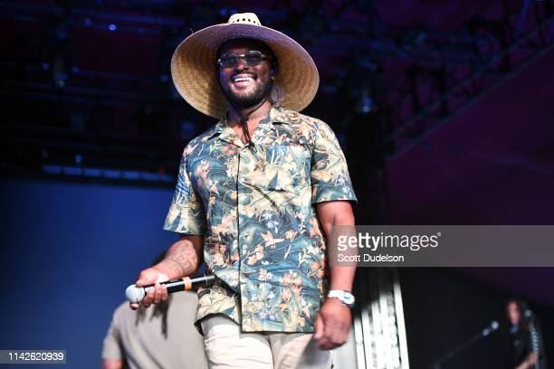 Singer Schoolboy Q performs onstage as a special guest of SiR during Weekend 1 Day 2 of the Coachella Valley Music and Arts Festival on April 13 2019...