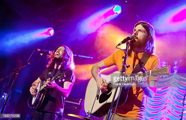 Singer Scott Avett and Seth Avett of The Avett Brothers perform live during a concert at the Astra on March 6 2013 in Berlin Germany