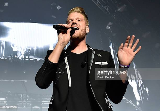 Singer Scott Hoying of Pentatonix performs at the Mandalay Bay Events Center on April 23 2016 in Las Vegas Nevada