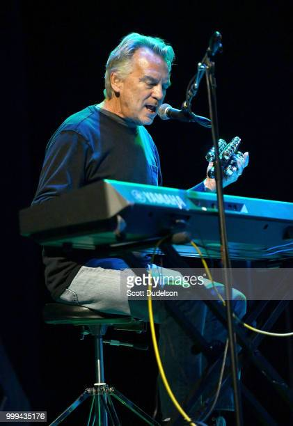 Singer Scott Monahan formerly of the band classic rock band Spirit performs onstage during the Happy Together tour at Saban Theatre on July 14 2018...